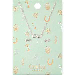 Orelia - Necklace - Infinity Earrings & Necklace Jewellery Set