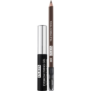 PUPA Milano - Augenbrauen - Kit True Eyebrow Pencil + Eyebrow Fixing Gel