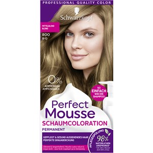 Perfect Mousse - Coloration - 8-0/800 Mittelblond Stufe 3 Perfect Mousse Schaum-Coloration