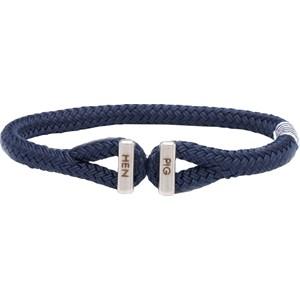 Pig & Hen - Rope Bracelets - Navy | Silver Icy Ike