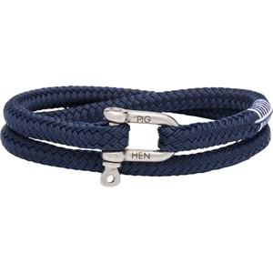 Pig & Hen - Rope Bracelets - Navy | Silver Salty Steve