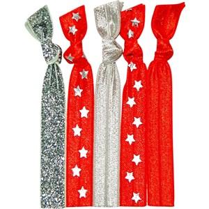 Popband - Zopfbänder - Hair Tie All Star Red-Silver