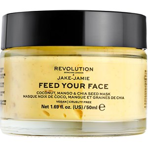 Revolution Skincare - Masken - Jake-Jamie Feed Your Face Coconut Mango & Chia Seed Mask