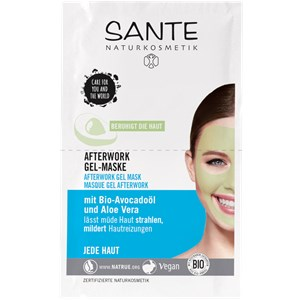 Sante Naturkosmetik - Masken - Afterwork Gel-Maske Bio-Avocadoöl & Aloe Vera