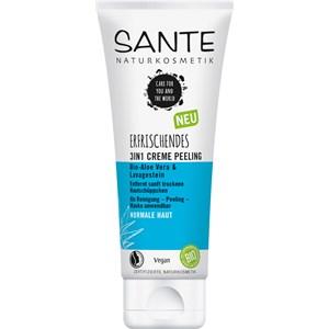 Sante Naturkosmetik - Reinigung - Bio-Aloe Vera & Lavagestein Erfrischendes 3in1 Creme Peeling