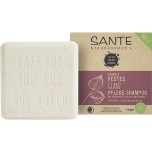 Sante Naturkosmetik - Shampoo - Festes Glanz Pflege-Shampoo Bio-Birkensaft