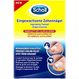 Scholl - Nagelpflege - Eingewachsene Zehennägel Komplett-Set Clips & Spray