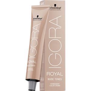 Schwarzkopf Professional Haarpflege Haarfarbe Coloration Igora Royal Nude Tones 7-46 Mittelblond Beige Schoko