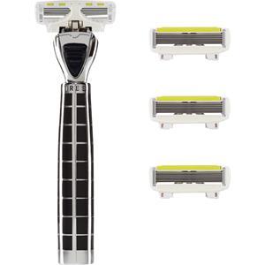 Damenrasierer Tres Starter Set Black Edition P.L.6 Griff + 4 Klingen 1 Stk.