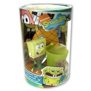SpongeBob - Pielęgnacja twarzy - Zestaw ze szczoteczką do zębów