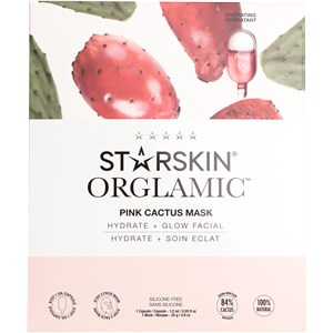 StarSkin - Tuchmaske - Orglamic Face Mask Pink Cactus