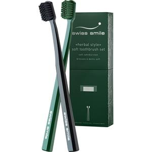 Image of Swiss Smile Pflege Zahnpflege Soft Toothbrush Set 1 Toothbrush Green + 1 Toothbrush Black 1 Stk.