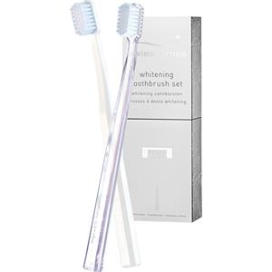 Image of Swiss Smile Pflege Zahnpflege Whitening Toothbrush Set 1 Toothbrush White + 1 Toothbrush Clear 1 Stk.