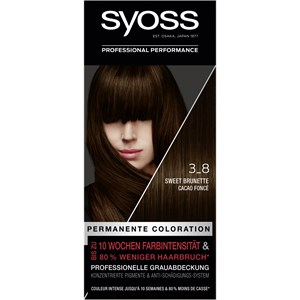 Syoss - Coloration - 3_8 Sweet Brunette Stufe 3 Permanente Coloration