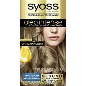 Syoss - Oleo Intense -  7-58 Kühles Beige-Blond Stufe 3 Öl-Coloration