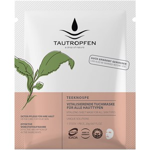 Tautropfen - Unique Solutions - Teeknospen Vitalisierende Tuchmaske