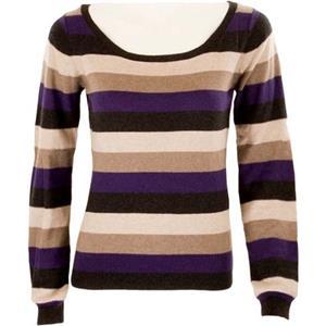 Turnover - Blusen & Pullover - gestreifter Pullover grau lila