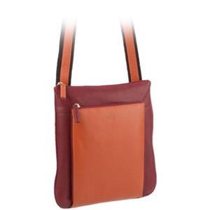 VOI Leather Design - Umhängetaschen - Umhängetasche opera orange mittel