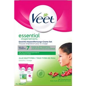 Veet - Cremes - Essential Inspirations Gesichts-Haarentfernungs-Creme Set
