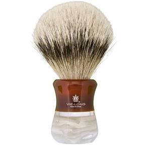 Vie-Long S.L. - Silver tipped badger hair shaving brush - Pure Silver Tip Badger
