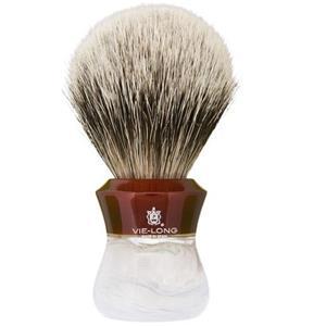 Vie-Long S.L. - Silver tipped badger hair shaving brush - Pure Silver Tip Badger