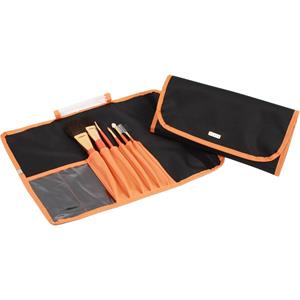 vie-long-s-l-pinsel-schminkpinsel-pinsel-set-nylon-schwarz-orange-6-echthaar-kosmetikpinsel-1-stk-
