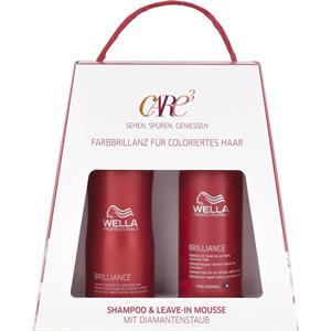 Wella - Brilliance - Shampoo (feines Haar) +Leave-in Mousse Duo Pack