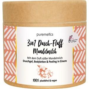 puremetics - Peeling & Masken - Zuckerpeeling Mandelmilch No2 3in1 Dusch-Fluff