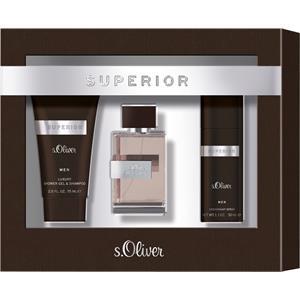 s.Oliver Herrendüfte Superior Men Geschenkset Eau de Toilette Spray 30 ml + Shower Gel & Shampoo 75 ml + Deodorant Spray 50 ml 1 Stk.