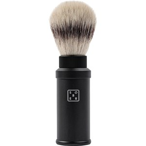 sober - Rasurpflege - Rasierpinsel Aluminium schwarz
