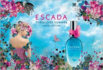 turquoise summer damend fte von escada parfumdreams. Black Bedroom Furniture Sets. Home Design Ideas