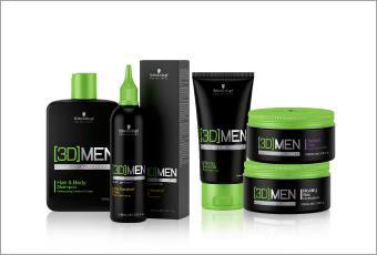 воск для волос 3d men