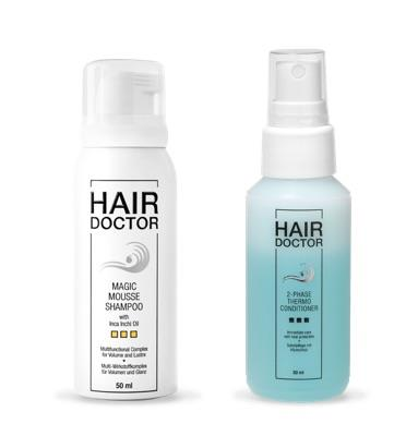 Hair Doctor Magic Mousse Shampoo oder 2-Phase-Thermo Conditioner 50 ml