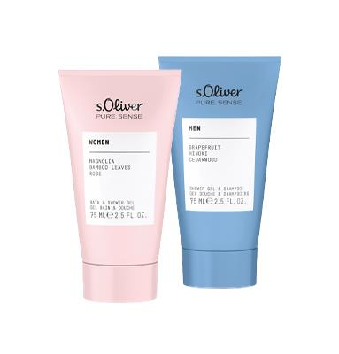 s.Oliver Pure Sense Duschgel For Her oder For Him 75ml